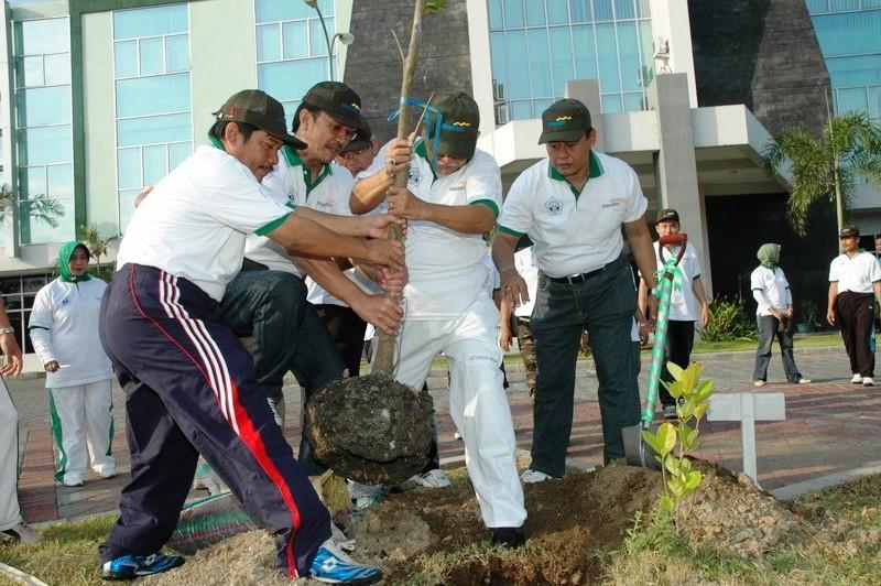 Bank Mandiri Tanam Pohon Jabon Senilai 1,5 M di Wonogiri