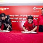 Kerjasama Telkomsel & Lion Air di Layanan Business Solution