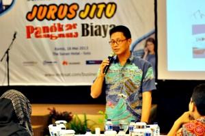 SEMINAR UKM-Roadshow Seminar dan Pelatihan UKM yang digelar Indosat di The Sunan Hotel Solo, Kamis (16/5)
