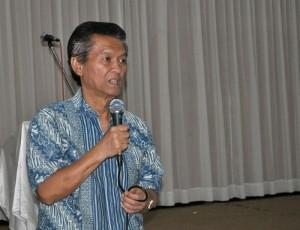 H. Susanto Tjokrosoekarno owner Riyadi Palace Hotel saat memberikan tausyiah
