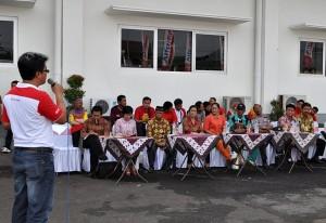 Branch Manager ALfamart Klaten, Andon Swasono Puyto saat sambutan
