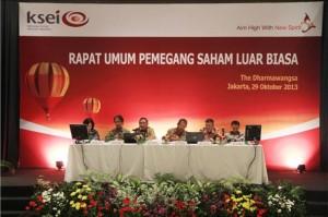 Kiri-kanan: Margeret M. Tang (Direktur), Sulistyo Budi (Direktur), Heri Sunaryadi (Direktur Utama), Erry Firmansyah (Komisaris Utama), Rudy Tandjung (Komisaris), Wiwit Gusnawan (Komisaris)