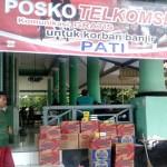 Telkomsel Bantu Korban Banjir di Kudus, Pati dan Jepara