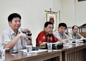Panitia Imlek Bersama  saat jumpa wartawan di Aula PMS, Sabtu (4/1/2014)