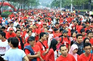 Lebih dari 7.000 Masyarakat Semarang turut memeriahkan launching GraPARI Pahlawan dengn mengikuti Telkomsel funwalk