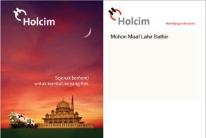 Greeting IDul Fitri Holcim