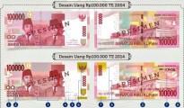Delapan Hal Baru di Desain Uang Baru NKRI Uang Kertas Baru Pecahan Rp 100.000 Tahun Emisi 2014  - sumber: Http://www.kemenkeu.go.id