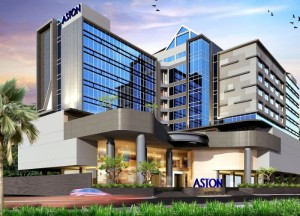 Gambar eksterior dari Aston Semarang Hotel & Convention Center, Semarang - Jawa Tengah.