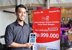 SpeedUp dan Carrefour Luncurkan Program PADi (Pad untuk Indonesia) SpeedUp Pad Gold, Produk terbaru SpeedUp Technology dengan Konten dan Aplikasi Pendidikan dalam SpeedUp Studio2.0, di Solo Paragon Mall