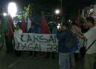 Demo BBM Bentrok, 1 Mahasiswa Terluka