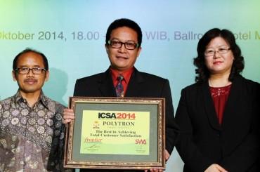Polytron Dipercaya dan Meraih ICSA 2014