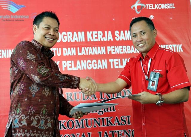 Gandeng Telkomsel, Garuda Indonesia Berikan Tiket Gratis