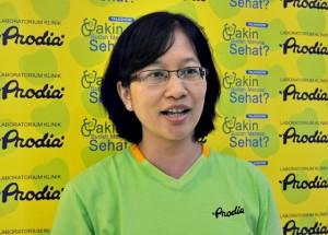 Branch Manager Prodia Solo, Maria Diah Fibriani. saat  di salah satu kegiatan beberapa waktu lalu