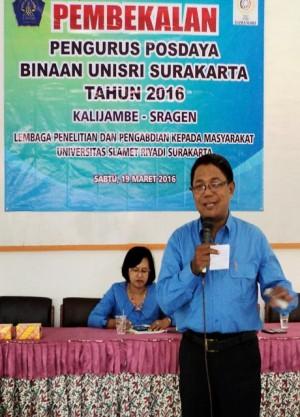 Dosen program studi akuntansi dan MM Unisri, Drs. Suharno, MM, Akuntan
