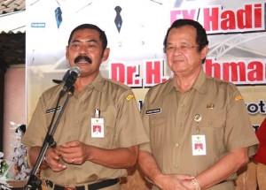 Walikota Solo Rudi Hadiyatmo didampingi Wakil Walikota Ahmad Purnomo