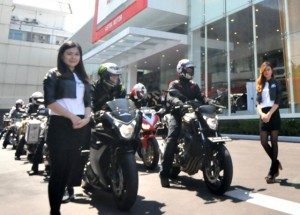 Pelepasan Komunitas Honda Big Bike yang akan touring menuju Pantai Jepara