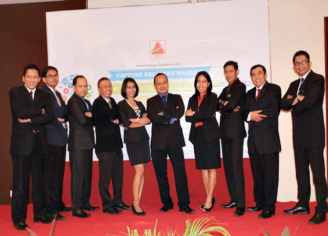 Porwanty Astuty diantara top leader Azana Hotel Management
