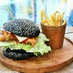 Chicken Black Burger ala Hotel Harper Purwakarta
