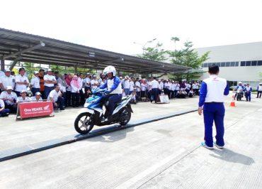 Astra Motor Jateng Beri Pelatihan Safety Riding Karyawan PT Kubota Indonesia