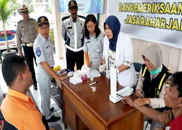 Jasa Raharja Gelar Medical Check di terminal