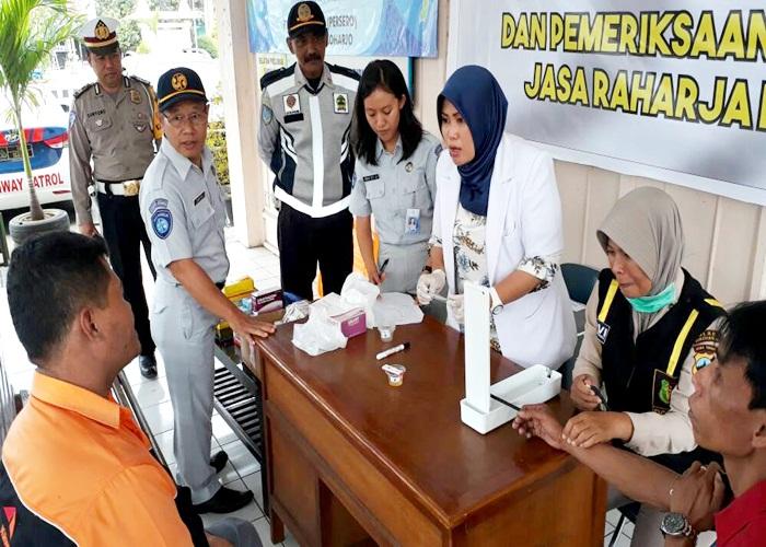 Jasa Raharja Gelar Medical Check di terminal