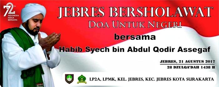 LP2A Kelurahan Jebres Gelar Jebres Bersholawat