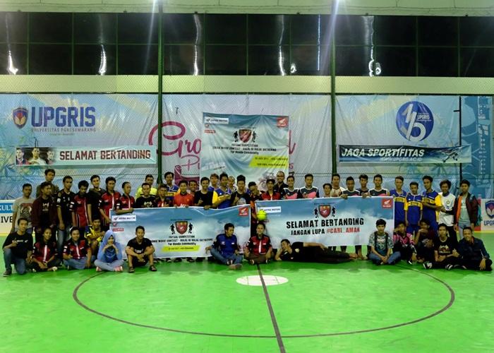 Komunitas Motor Honda Semarang dan Kendal Guyub di Ketupat Futsal 2017