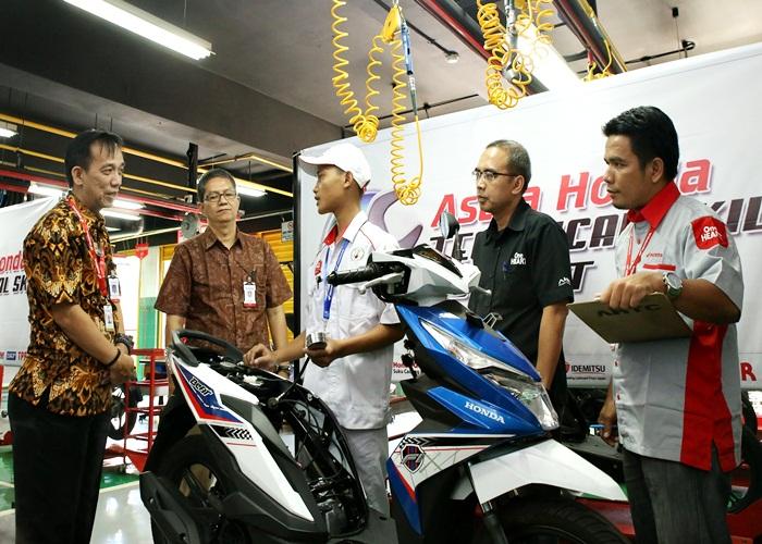 Perwakilan Jateng Raih Dua Podium di Kontes Mekanik Honda Nasional