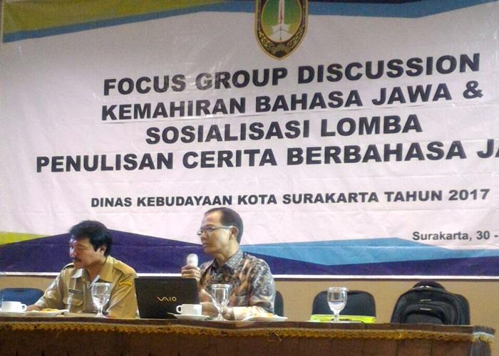 Pemkot Solo Gelar FGD dan Sosialisasi Lomba Penulisan Berbahasa Jawa
