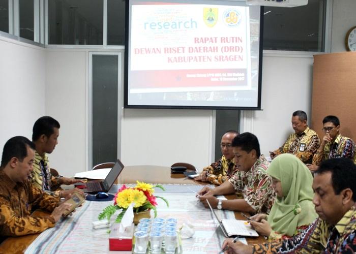 Dewan Riset Sragen Siapkan Program Unggulan 2018 Wujudkan Misi Pemda
