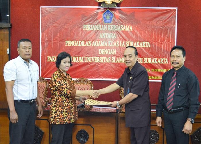 Fakultas Hukum Unisri  Mou dengan Pengadilan Agama Kelas 1A Surakarta