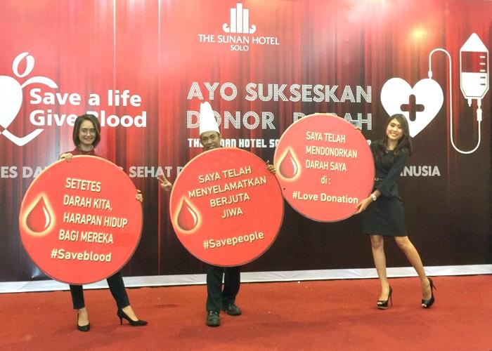 The Sunan Hotel Solo Selenggarakan Donor Darah