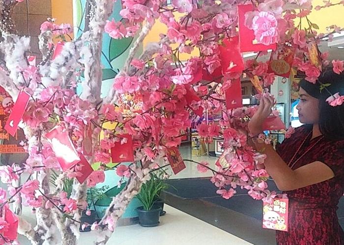 Pohon Keberuntungan di Solo Grand Mall