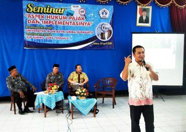 Peduli Pajak, UNIBA Solo – DJP Jateng Gelar Seminar Hukum Pajak