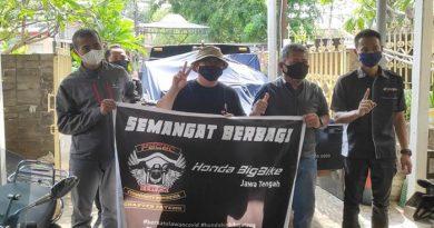 Komunitas Honda Rebel dan Honda Moge Jateng Beri Kontribusi Sosial